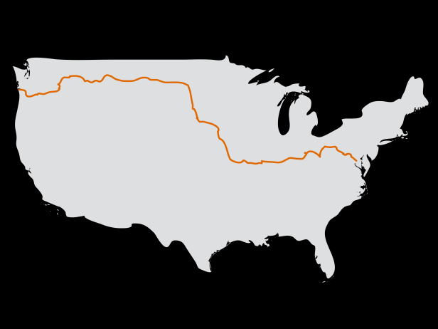 3,700 miles of bike touring from Astoria, Oregon to Washington DC.