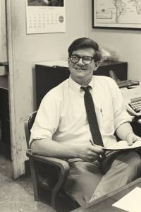 Jim Peipert as an editor on The Associated Press World Desk, New York, circa 1969-1970