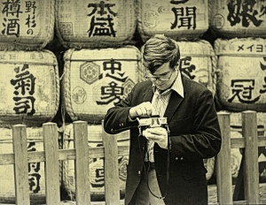 Jim changing film in Japan in the early 1970's.